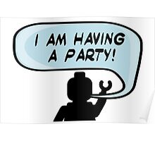 """I AM HAVING A PARTY"" Invitation Poster"