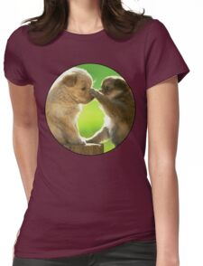 Cute Puppys Womens Fitted T-Shirt