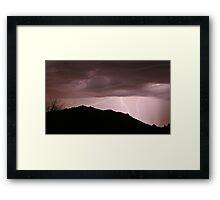 Desert Strikes Framed Print