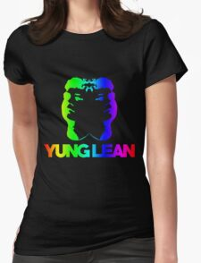 Yung Lean Baby RAINBOW EDITION ☺ Womens Fitted T-Shirt