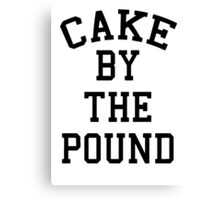 Cake By The Pound [Black] Canvas Print