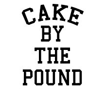 Cake By The Pound [Black] Photographic Print