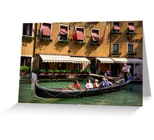 Venice boat ride Greeting Card