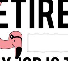 Funny Lawn Flamingo Retirement Sticker