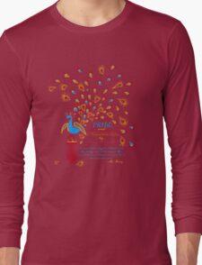 Paisley Peacock Pride and Prejudice: Fall Modern Long Sleeve T-Shirt