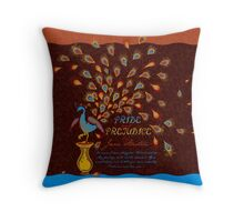 Paisley Peacock Pride and Prejudice: Fall Modern Throw Pillow