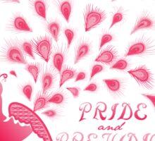 Paisley Peacock Pride and Prejudice: Girly Sticker