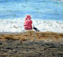 Pink Girl & Friend by Gulf Shore by pattymaryclare