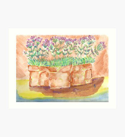 ellies garden Art Print