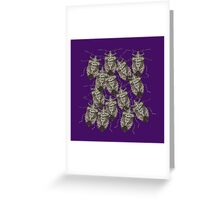 Beautiful Bedazzled Stink Bugs Greeting Card