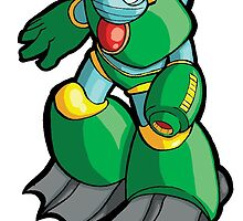 Mega Man 2 Robot Master - Bubble Man by 57MEDIA