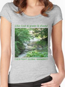 Cool, Green & Shady Women's Fitted Scoop T-Shirt
