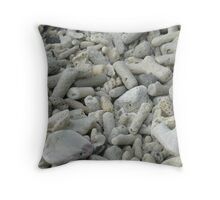 Coral Beach Throw Pillow