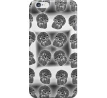 Crystal Skull  Black and White Duvet iPhone Case/Skin