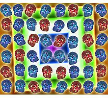 Crystal Skull Duvet Full Color Photographic Print