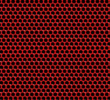 Red Black Dot Grid by Sookiesooker