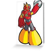 Mega Man 2 Robot Master - Metal Man Greeting Card