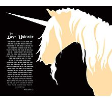 The Last Unicorn (Inspired Design) Photographic Print