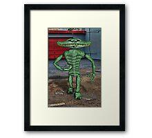 Gator Bone Man Framed Print