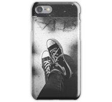 black converse iPhone Case/Skin