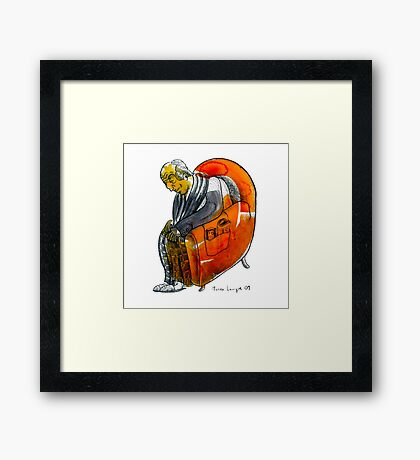Interpretation #64 - Old men's seat Framed Print