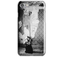 Girl in black.  iPhone Case/Skin