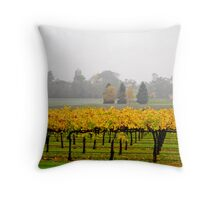 Winery Mist Throw Pillow