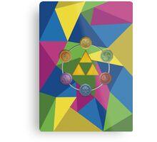 Tri-Force polygon Metal Print