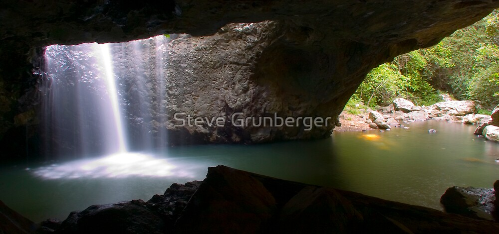 Natural Arch Waterfall by Steve Grunberger