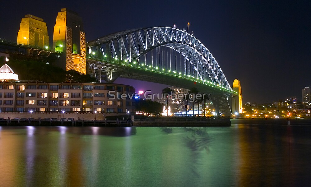 Harbour Bridge from The Rocks - Sydney Australia by Steve Grunberger