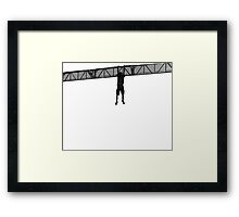 He's still alive. Transparent vectorial design. Framed Print