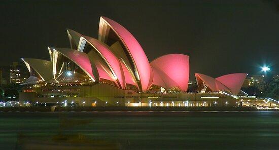 Pink Sydney Opera House for Breast Cancer Week 2006 by Steve Grunberger