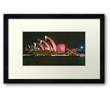 Pink Sydney Opera House for Breast Cancer Week 2006 Framed Print