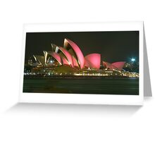 Pink Sydney Opera House for Breast Cancer Week 2006 Greeting Card