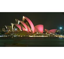 Pink Sydney Opera House for Breast Cancer Week 2006 Photographic Print