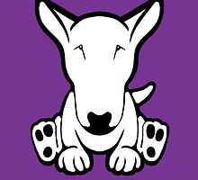 English Bull Terrier Strange Sit  by Sookiesooker
