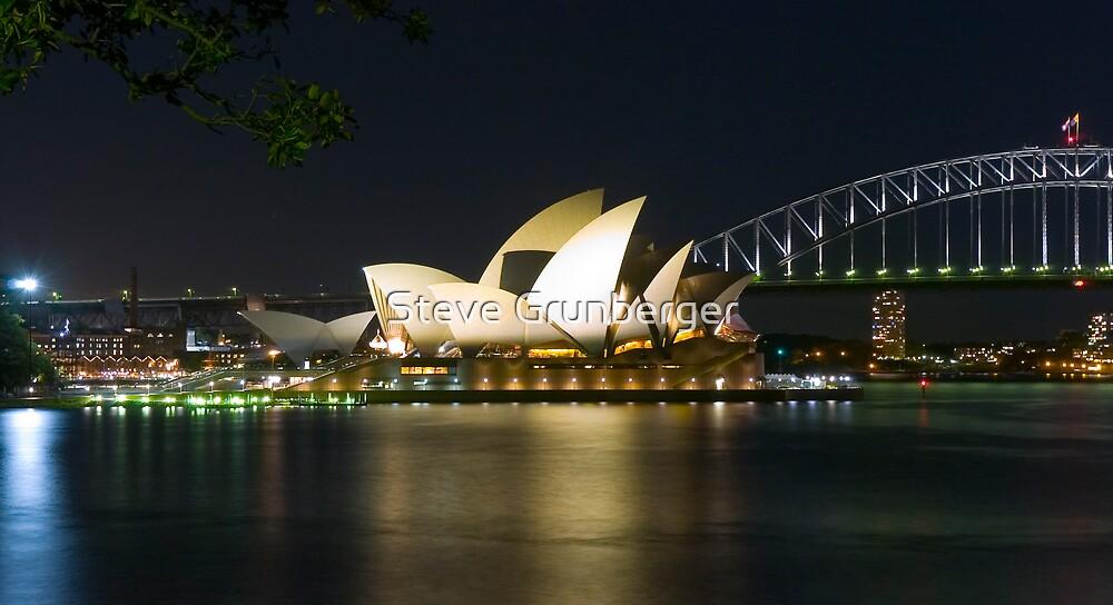 Opera House by Night by Steve Grunberger