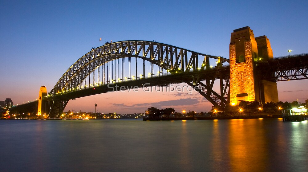 Sydney Harbour Bridge at Dusk - Australia by Steve Grunberger