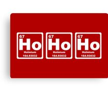 Ho Ho Ho - Christmas - Santa Claus - Periodic Table Canvas Print