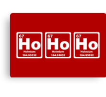 Ho Ho Ho - Christmas - Santa Claus - Periodic Table Canvas Print