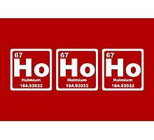 Ho Ho Ho - Christmas - Santa Claus - Periodic Table Photographic Print