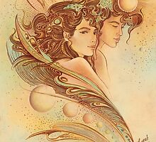 """THE GEMINI"" - Protective Angel for Zodiac Sign by Anna Ewa Miarczynska"