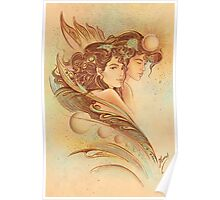 """""""THE GEMINI"""" - Protective Angel for Zodiac Sign Poster"""