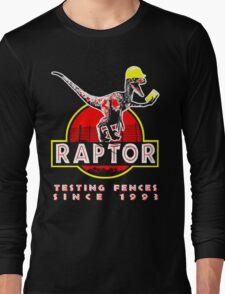 Raptor. Testing fences since 1993. Long Sleeve T-Shirt