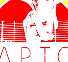 Raptor. Testing fences since 1993. Sticker