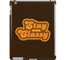 Stay Classy - Retro 70s - Logo iPad Case/Skin