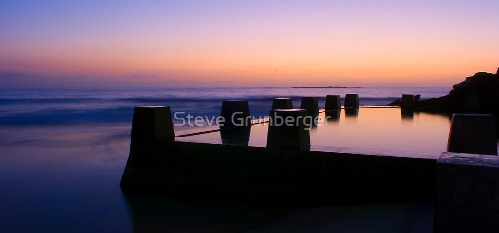 Coogee Pool at Sunrise by Steve Grunberger