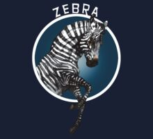 Zebra Blue Background by antarcticpip