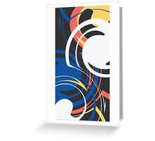 Weird swirls Greeting Card