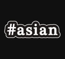 Asian - Hashtag - Black & White Kids Tee